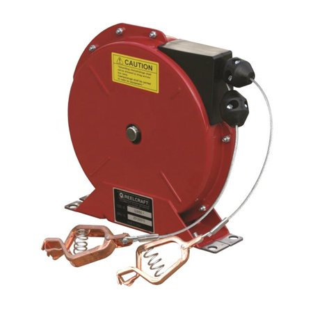 Reelcraft Spring - Reelcraft G 3050 Y 50 ft. Spring Retractable Grounding Reels