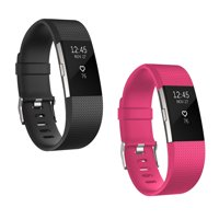 For Fitbit Charge 2 Bands, EEEKit 2-Pack Replacement Soft Silicone Sport Strap Wristband Accessories for Fitbit Charge 2 Smartwatch