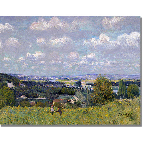 "Trademark Fine Art ""The Valley of the Seine"" Canvas Art by Alfred Sisley"