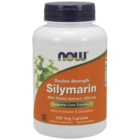 NOW Silymarin Double Strength 300 mg Vegetable Capsules, 200 Ct