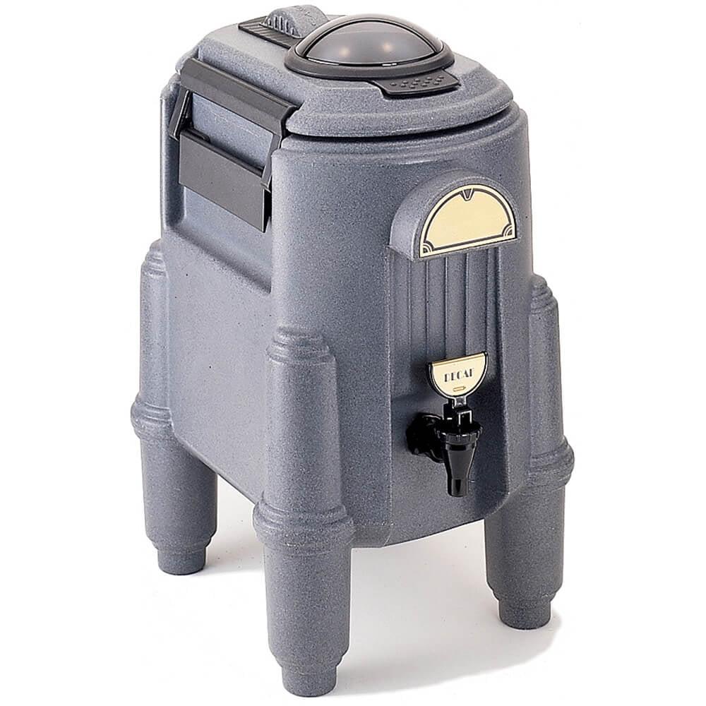 Cambro 3 Gal. Hot Beverage Dispenser, Coffee / Tea, Granite Gray, CSR3-191