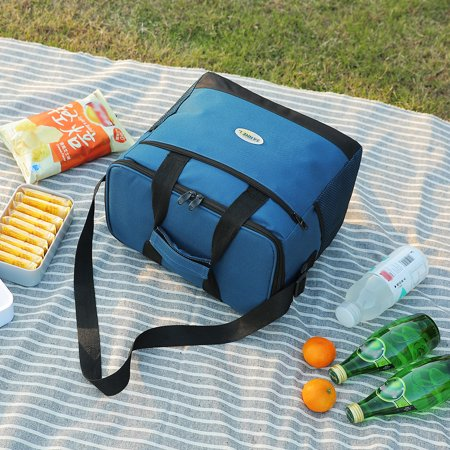 2484a1a9cfd0 Lixada 16L Outdoor Insulated Bag Cooler Lunch Tote Thermal Bento Bag  Outdoor Camping BBQ Picnic Food Freshness Cooler Grocery Shoulder Bag