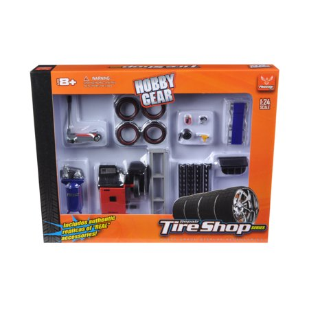 Tire Repair Shop Accessories Set Ford 1/24 Diecast Model Cars by Phoenix - Svt Ford Model