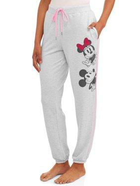 Disney Women's and Women's Plus Mickey & Minnie Pajama Jogger
