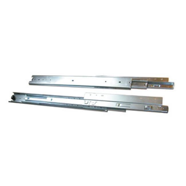 Knape & Vogt Kv8805 B26 26 inch Heavy Duty 200 Lb.  Overtravel Drawer Slide - Anochrome
