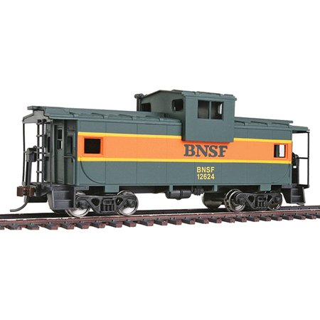 Walthers Trainline HO Scale Wide Vision Caboose Car BNSF (Green, Orange)