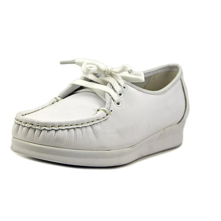 Nurse Mates Anni Lo Women  Round Toe Leather White Nursing & Medical - White Nurse Mates