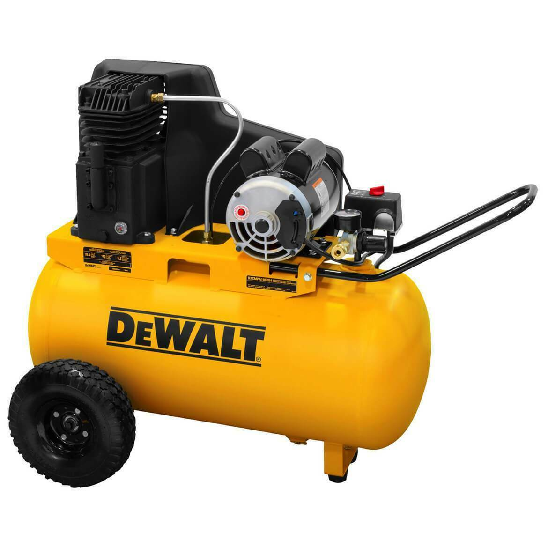 DEWALT 20 Gallon Portable Horizontal Electric Air Compressor