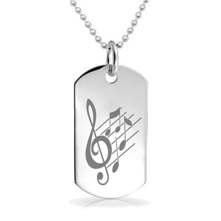 Epic Designs Music Notes pendant necklace Custom Engraved Charm Keychain Jewelry or Bags gift