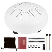 Handpan Steel Tongue Drum, Purify Mind and Soul(White 6 inches)