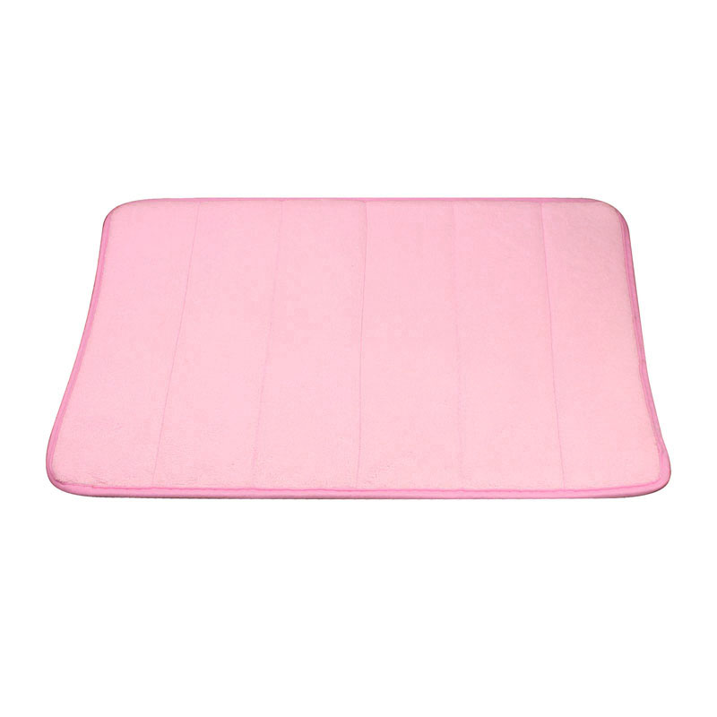 New Rugs Vertical Stripes Memory Foam Bath Mat Carpet Floor Mats Pink