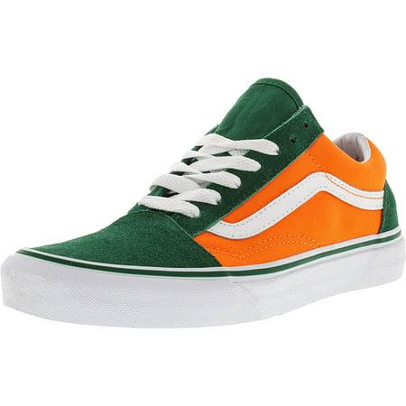 Vans Old Skool Brite Verdant Green / Neon Orange Ankle-High Canvas  Skateboarding Shoe - 10.5M 9M