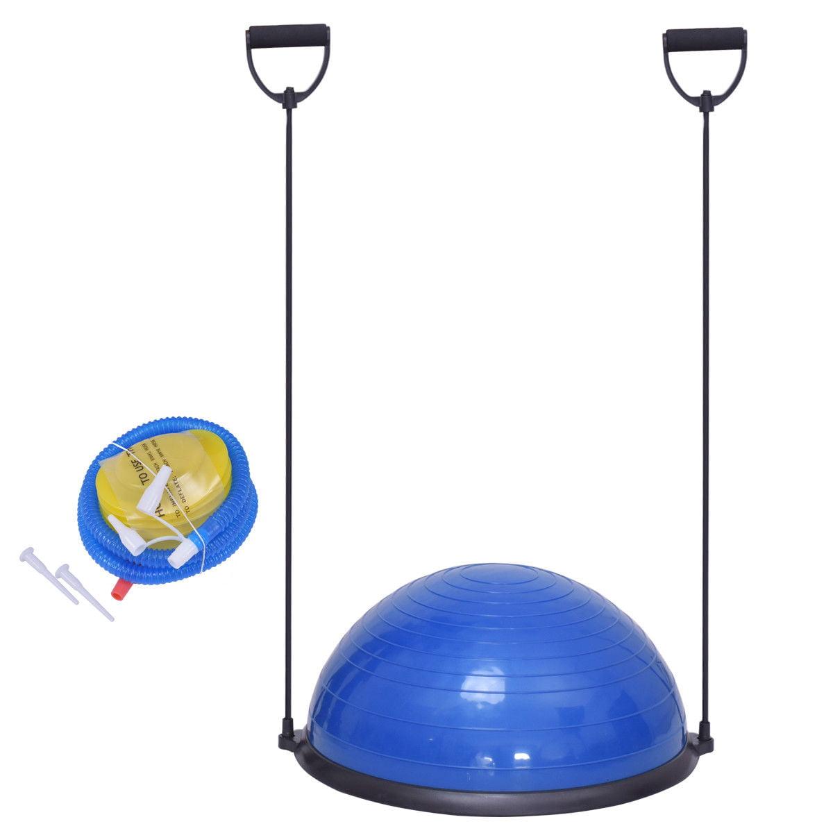 "23"" Blue Yoga Ball Balance Trainer w/ Pump Home Exercise Training Fitness - image 7 de 8"