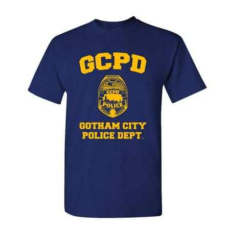 GCPD GOTHAM CITY POLICE DEPT - arkham game - Mens Cotton T-Shirt ()