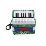 Ammoon Mini Small 17-Key 8 Bass Accordion Educational Musical Instrument Toy for Kids Children Amateur Beginner Christmas Gift