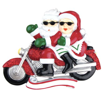 PERSONALIZED CHRISTMAS ORNAMENTS COUPLES-MOTORCYCLE MR. & MRS. CLAUSE KIT](Mrs Christmas)