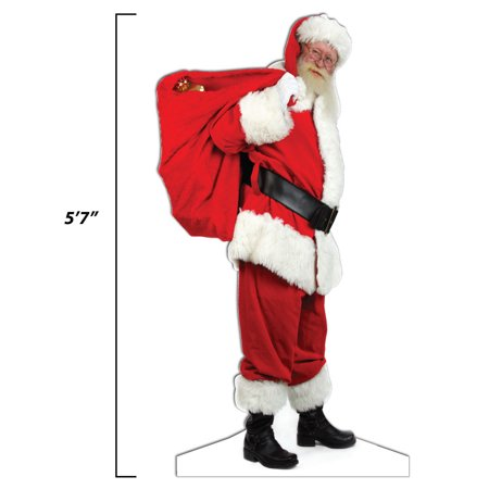 Life Size Santa Cutout - Sidewalk and Lawn Display - 5' 7