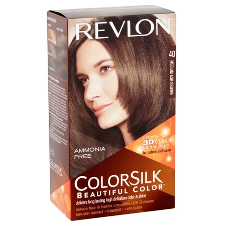 Revlon ColorSilk Hair Color, Medium Ash Brown