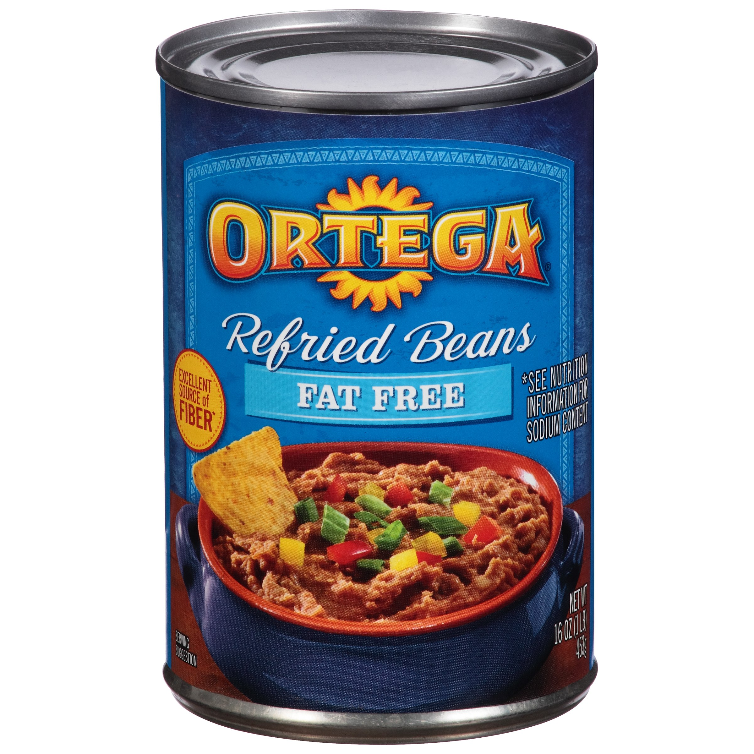 Ortega® Fat Free Refried Beans 16 oz. Can
