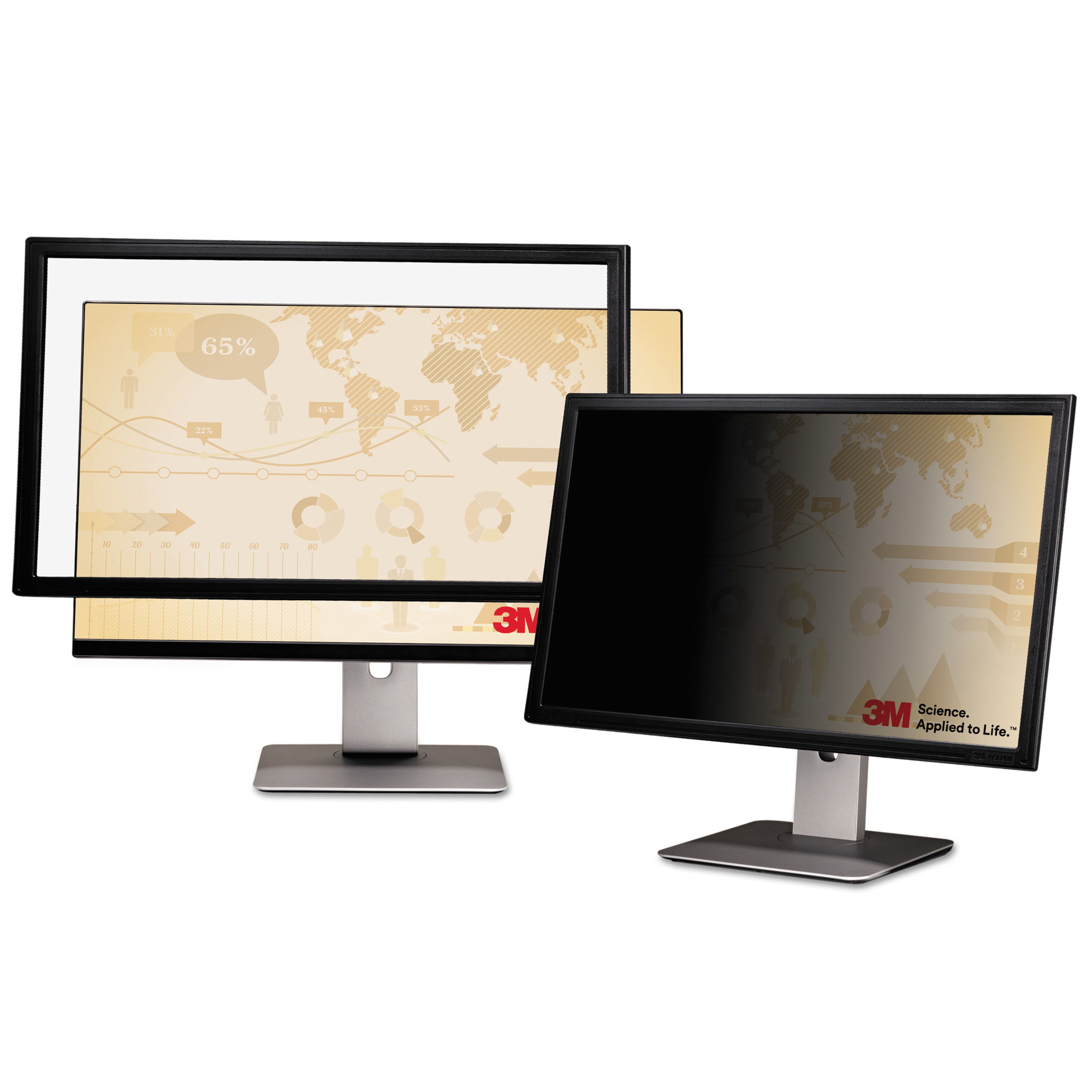 "3M Blackout Frameless Privacy Filter for 24"" Widescreen Notebook/LCD, 16:9"