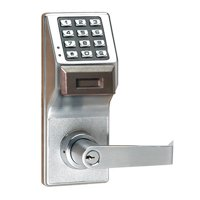 LOCDOWN PDL3000 US26D Electronic Lock,Brushed Chrome,12 Button