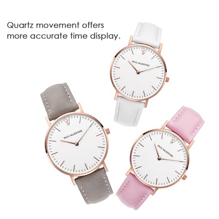 783 Quartz Montre Femmes Hommes Bracelet En Cuir Simple Montre Temps Affichage Mode De Vie Occasionnelle Imperméable À L'eau Femelle Hommes Montres - image 3 de 6