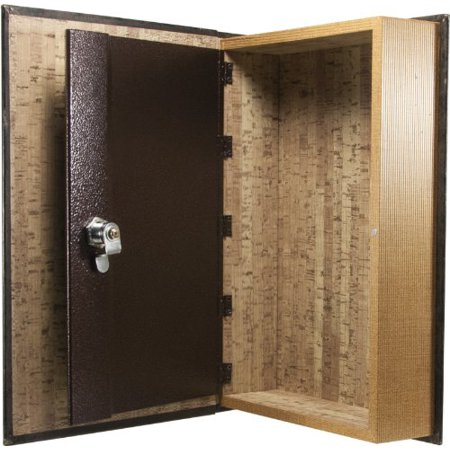 Large Antique Book Lock Box with Key Lock Antique Safe to keep valuables ()