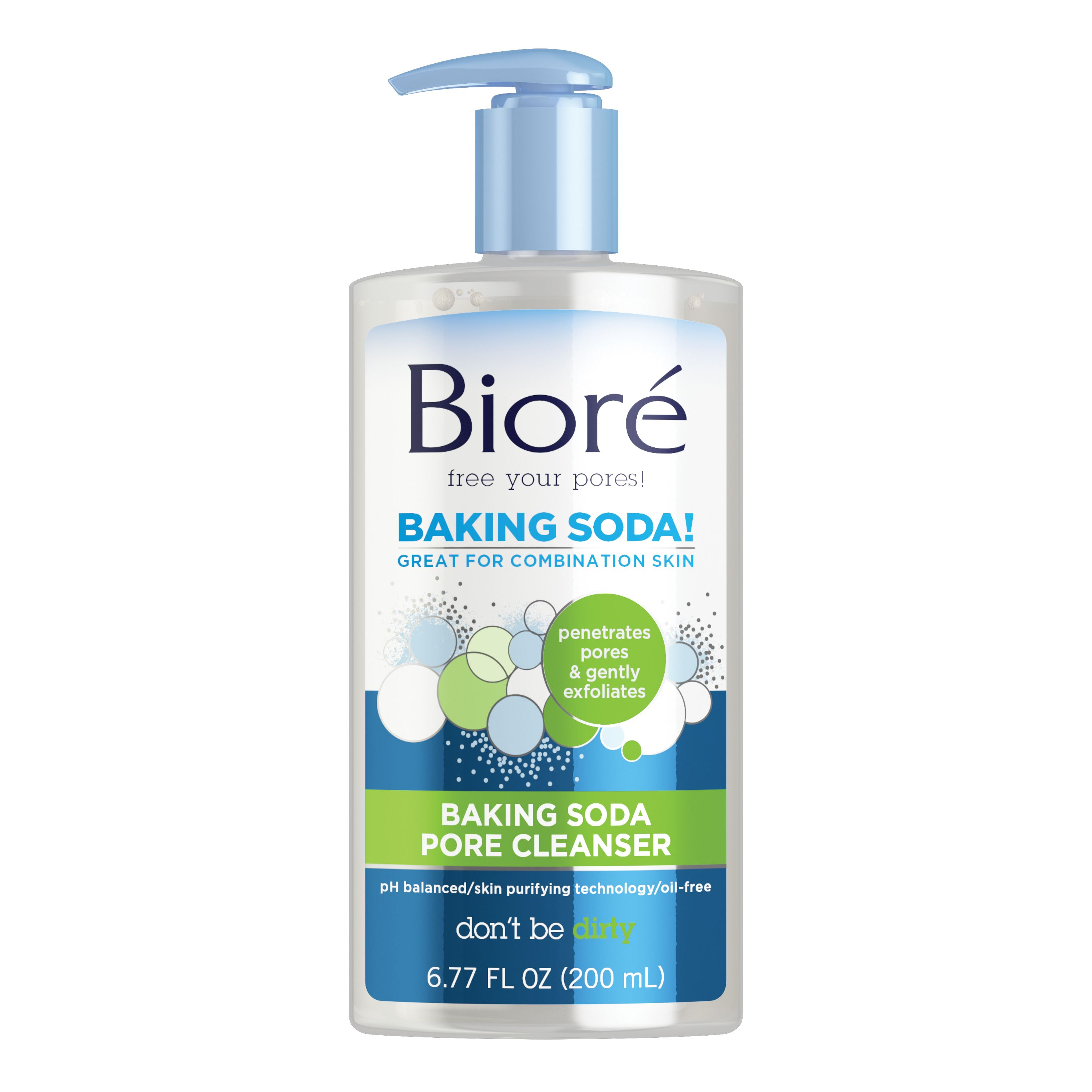 Biore Baking Soda Pore Cleanser For Combination Skin 677 Oz Make Up Remover Cleansing Oil Sheet