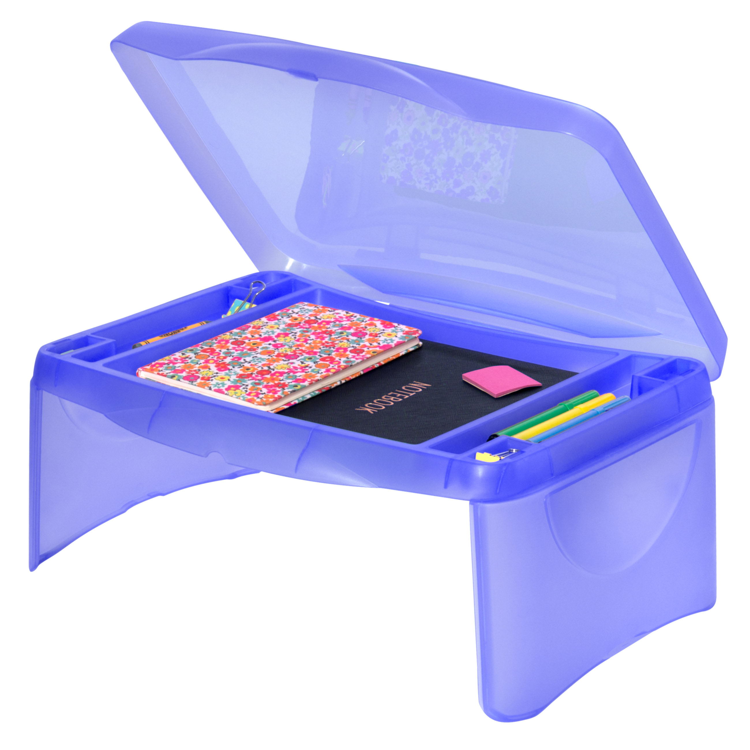 Best Choice Products Kids Folding Lap Desk W  Storage- Blue by Best Choice Products