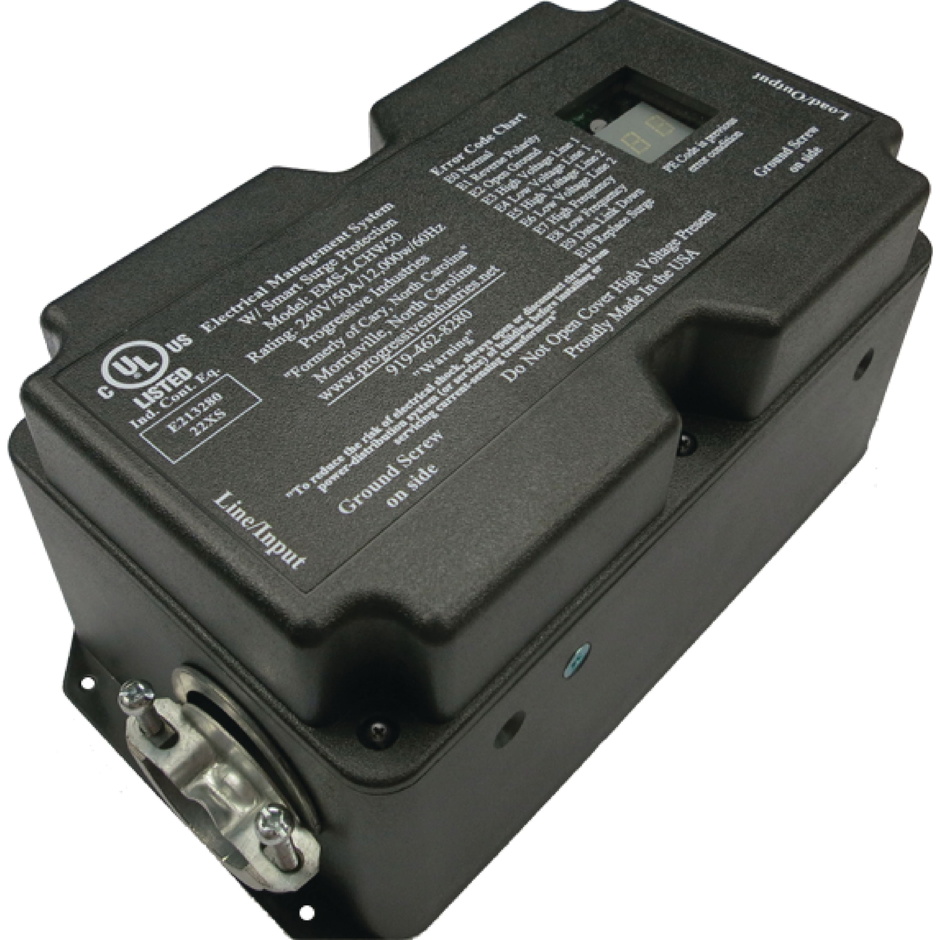 Progressive Industries EMSLCHW50 50A 120/240V Hardwired RV Surge & Electrical Protector with Integrated Display
