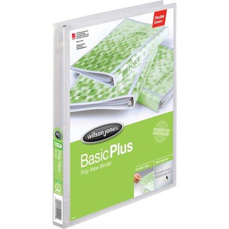 Wilson Jones, WLJ43336, Round Ring Flex Poly View Binder, 1 Each, (Durable Clear View Folder)