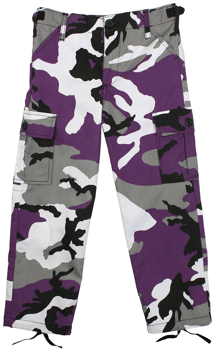 run shoes new & pre-owned designer huge selection of Rothco Kid's BDU Pants - Ultra Violet Camo, XX-Small