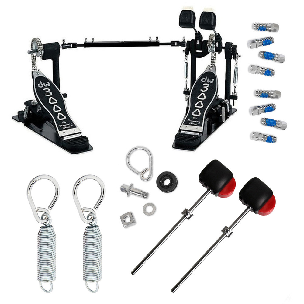 Drum Workshop DWCP3002 Double Bass Pedal and Accessory Bundle