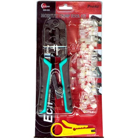 Eclipse Tools Modular Crimper Kit with Plugs and Stripper Modular Plug Tool