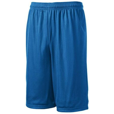 Sport-Tek Extra Long Dri-Fit Mesh Short Polyester Basketball Custom Fit Mesh Shorts