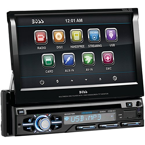 """BOSS AUDIO BOSBV9979BB Boss Audio Bv9979b 7 Single-din In-dash Flip-up Dvd Receiver With Bluetooth(r)"""