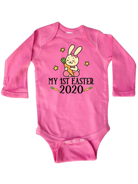 inktastic Baby Bunny Rabbit Im New Here Long Sleeve Creeper