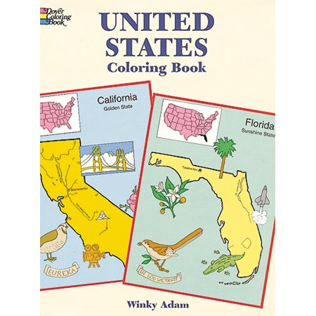 Dover Publications-United States Coloring Book - Walmart.com