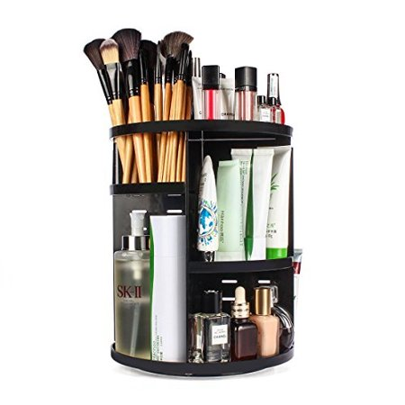 Sanipoe 360 Rotating Makeup Organizer Diy Adjule Carousel Spinning Holder Storage Rack Large