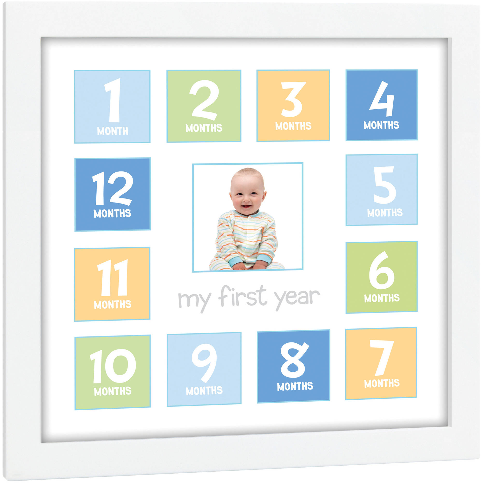 Month Picture Frame Baby Year Photo Collage Birthday Christening