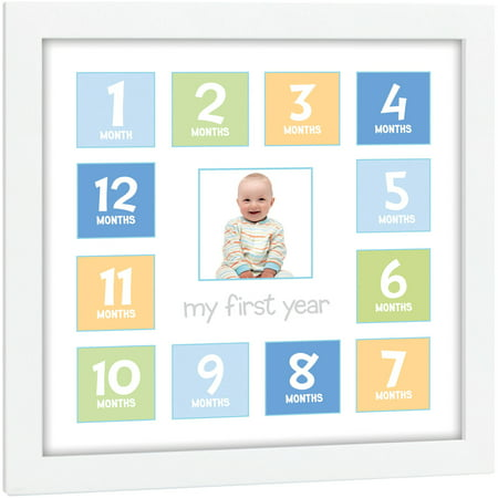 Tiny Ideas First Year Baby Keepsake Frame (Baby Theme Ideas)