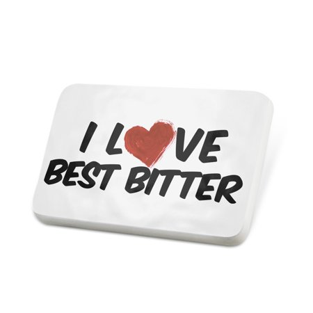 Porcelein Pin I Love Best Bitter Beer Lapel Badge –