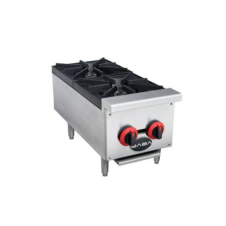 Heavy Duty Commercial Stainless Steel 2 Burner Hot