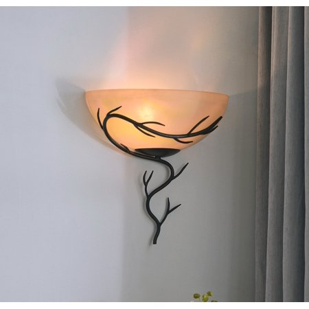 Kenroy Home Twigs 1-Light Wall Sconce, (Kenroy Wood Sconce)