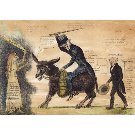 Cartoon Panic Of 1837 Nmodern Balaam And His Ass American Comment Placing The Blame For The Panic Of 1837 And The Perilous State Of The Banking System On Outgoing President Andrew Jackson Shown Riding