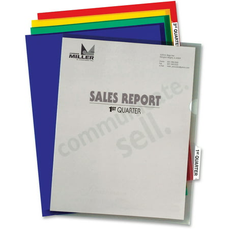 Project Folder Letter - C-Line Heavyweight Tabbed Jacket Project Folders, Letter, Poly, Assorted Colors, 25/Box