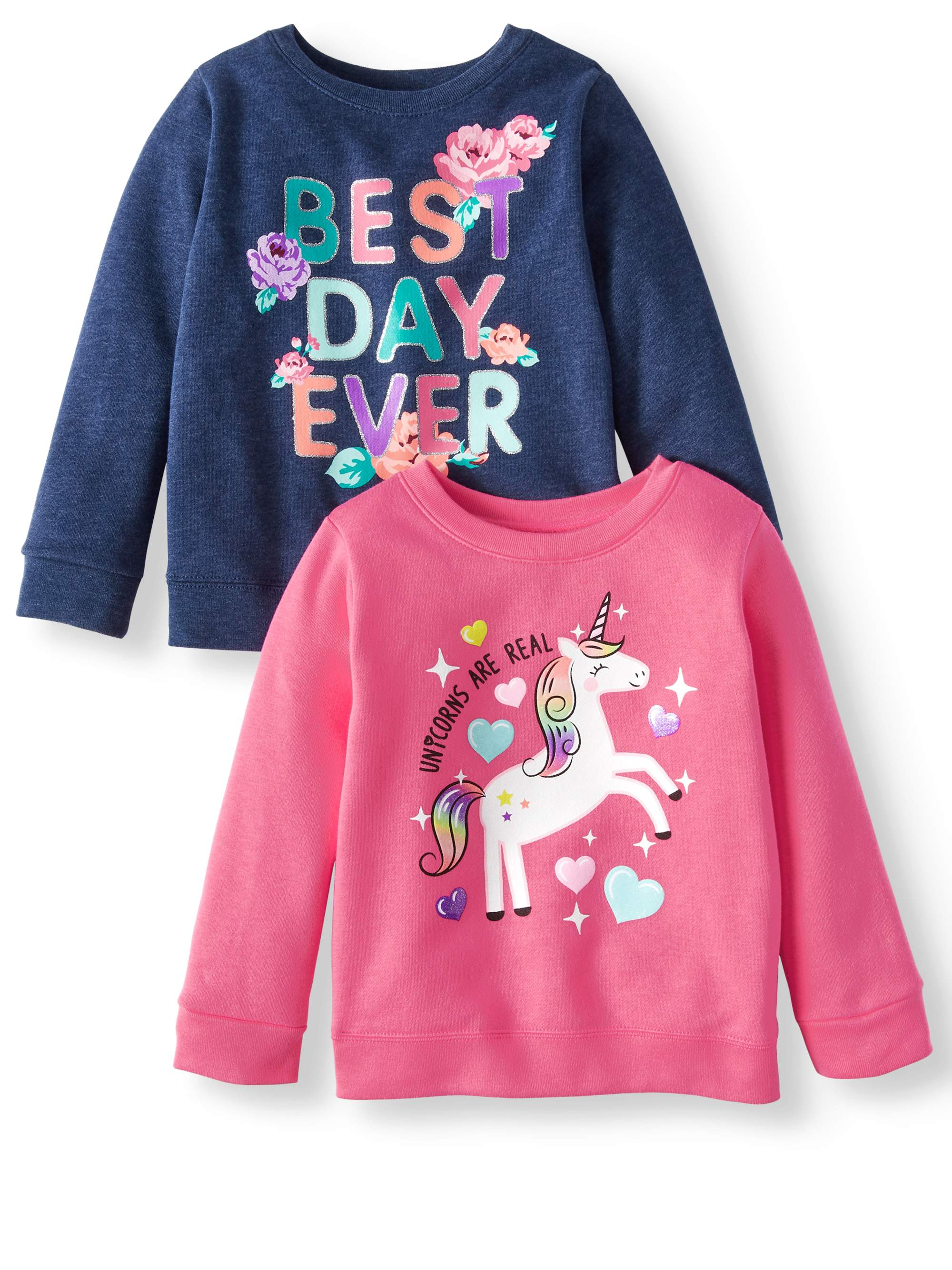 Graphic Sweatshirts, 2-pack (Toddler Girls)