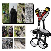 Full/Half Body Safety Climbing Harness Outdoor Rock Climbing Harness Half Body Harness Safe Seat Belt for Mountaineering Outward Band Expanding Training Tree Arborist Climbing Rappelling Equip