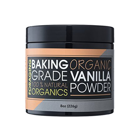 Foraging Organic Vanilla Powder White Baking Culinary Grade Vanilla Bean Extract Substitute 100% All Natural