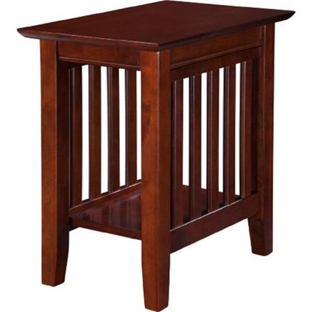 Mission Style Side Table - Mission Chair Side Table, Walnut